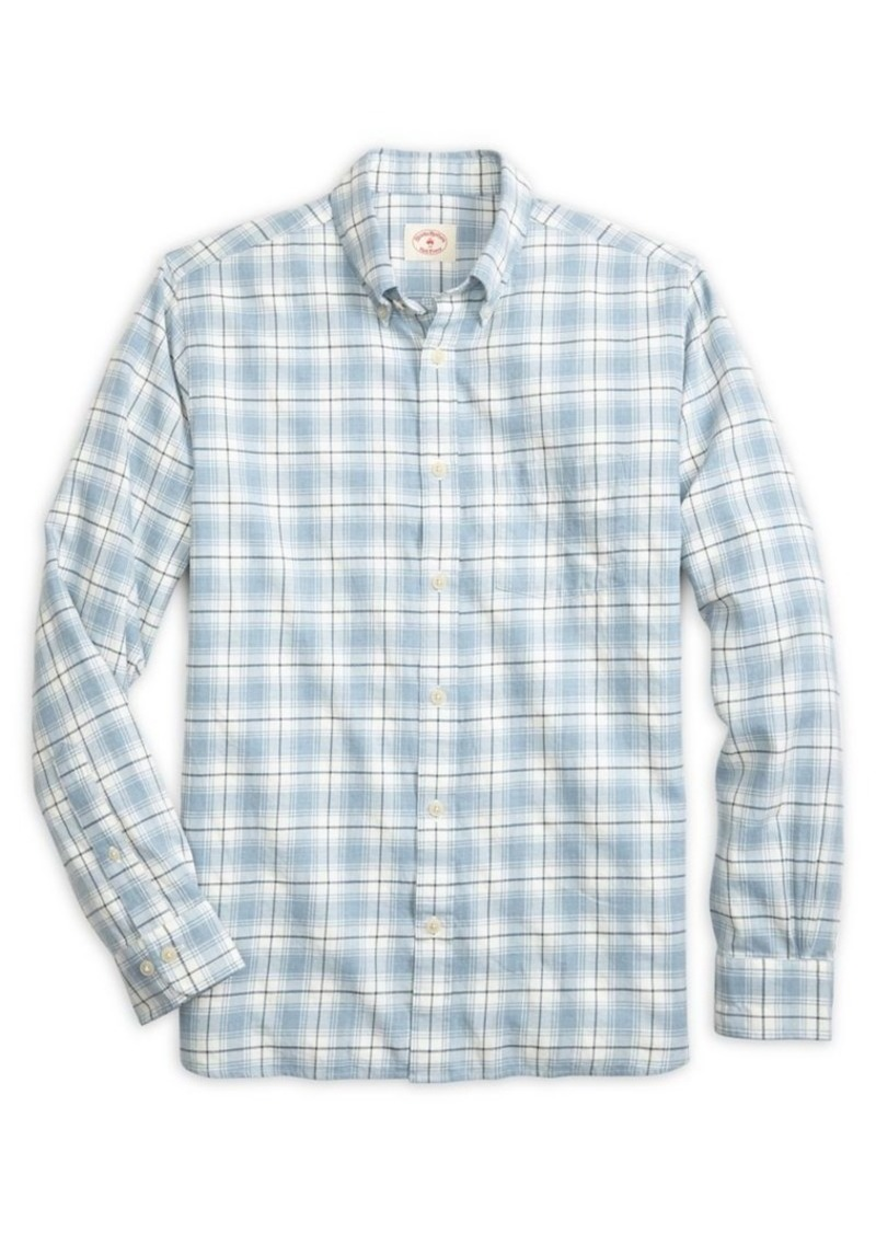 51a559347e2 Brooks Brothers Brooks Brothers Red Fleece Twill Check Button-Down ...