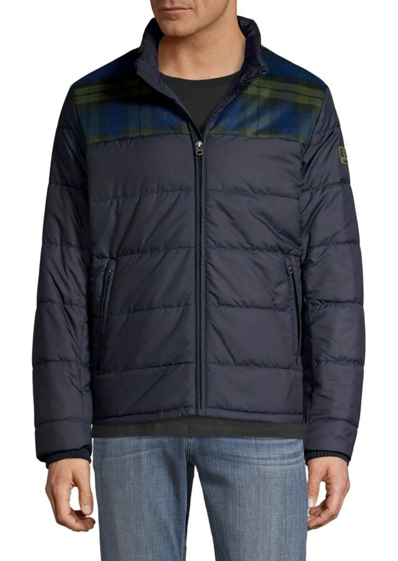 Brooks Brothers Red Fleece Water Resistant Colorblock Puffer Jacket