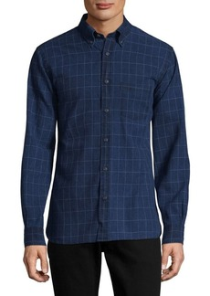 Brooks Brothers Red Fleece Windowpane Cotton Casual Button-Down Shirt