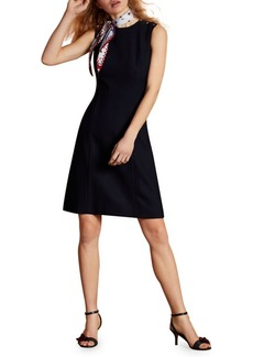 Brooks Brothers Red Fleece Wool Blend A-Line Dress