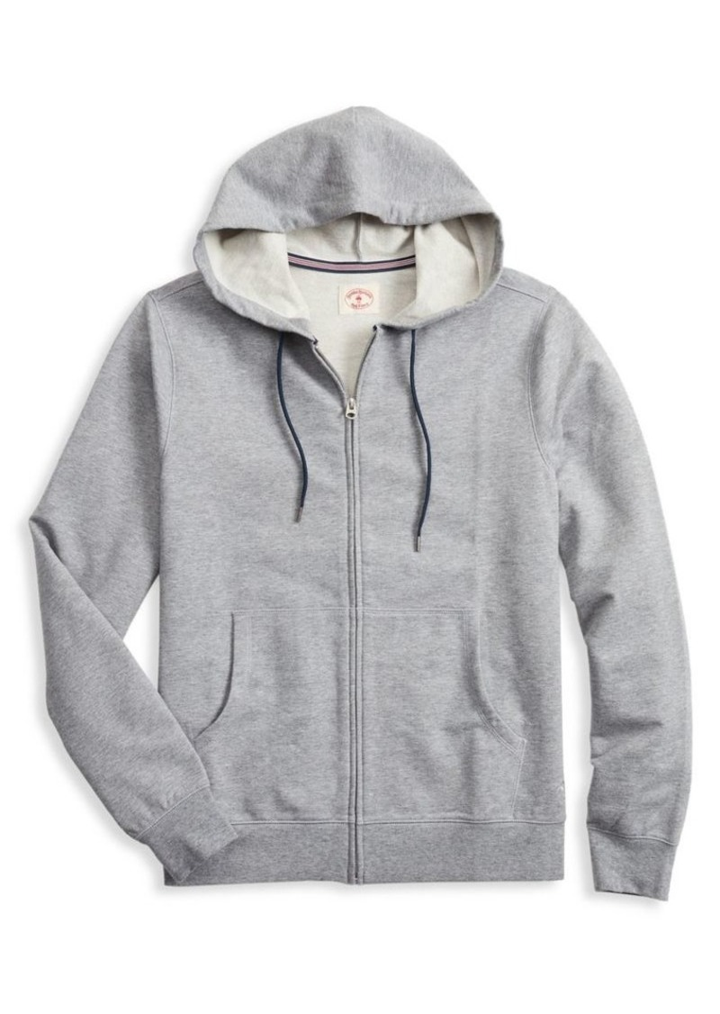 Brooks Brothers Red Fleece Zip Front Hoodie