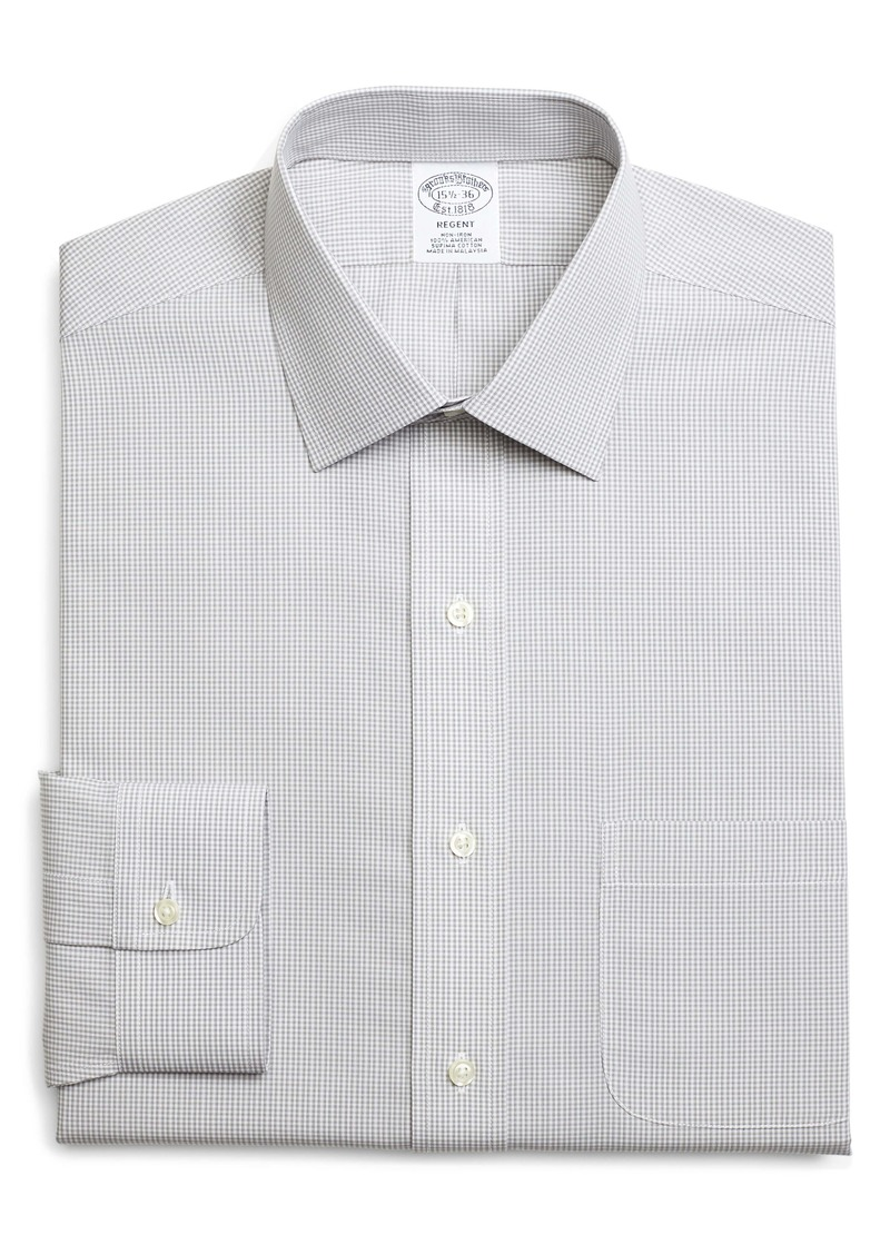 Brooks Brothers Regent Regular Fit Non-Iron Check Dress Shirt