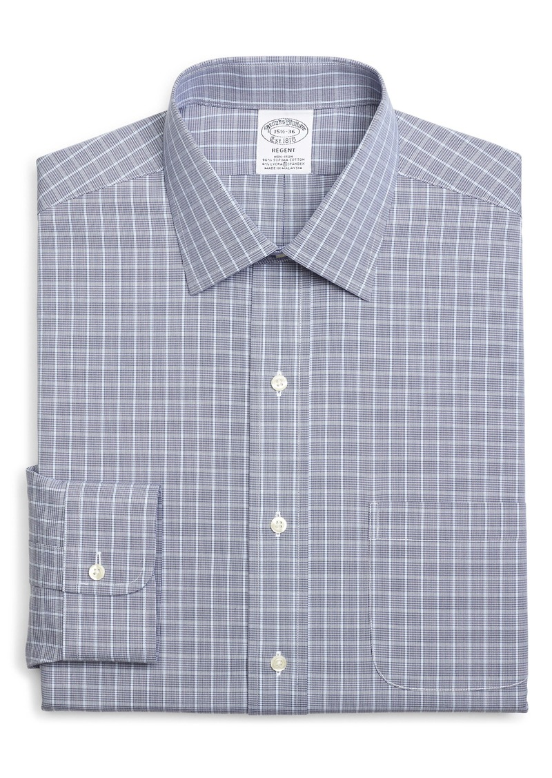 Brooks Brothers Regent Regular Fit Non-Iron Stretch Check Dress Shirt