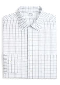 Brooks Brothers Regent Regular Fit Non-Iron Windowpane Dress Shirt
