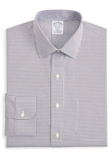 Brooks Brothers Regent Regular Fit Stretch Plaid Dress Shirt