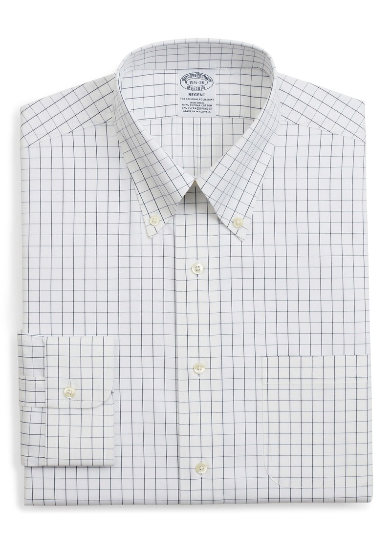 Brooks Brothers Regent Regular Fit Windowpane Dress Shirt