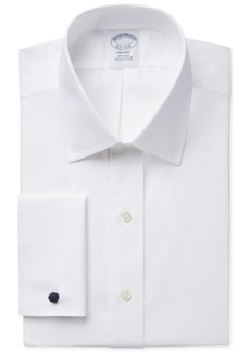 Brooks Brothers Regent Slim-Fit Non-Iron Solid French Cuff Broadcloth Dress Shirt