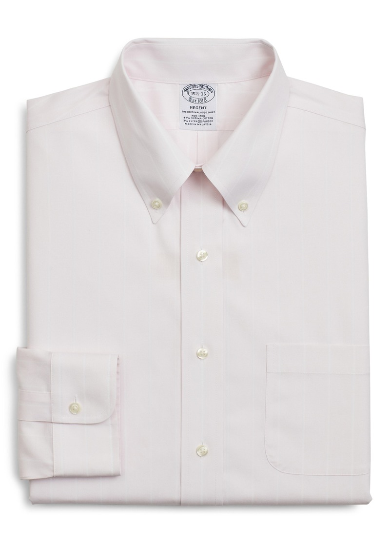 Brooks Brothers Regent Regular Fit Stripe Dress Shirt