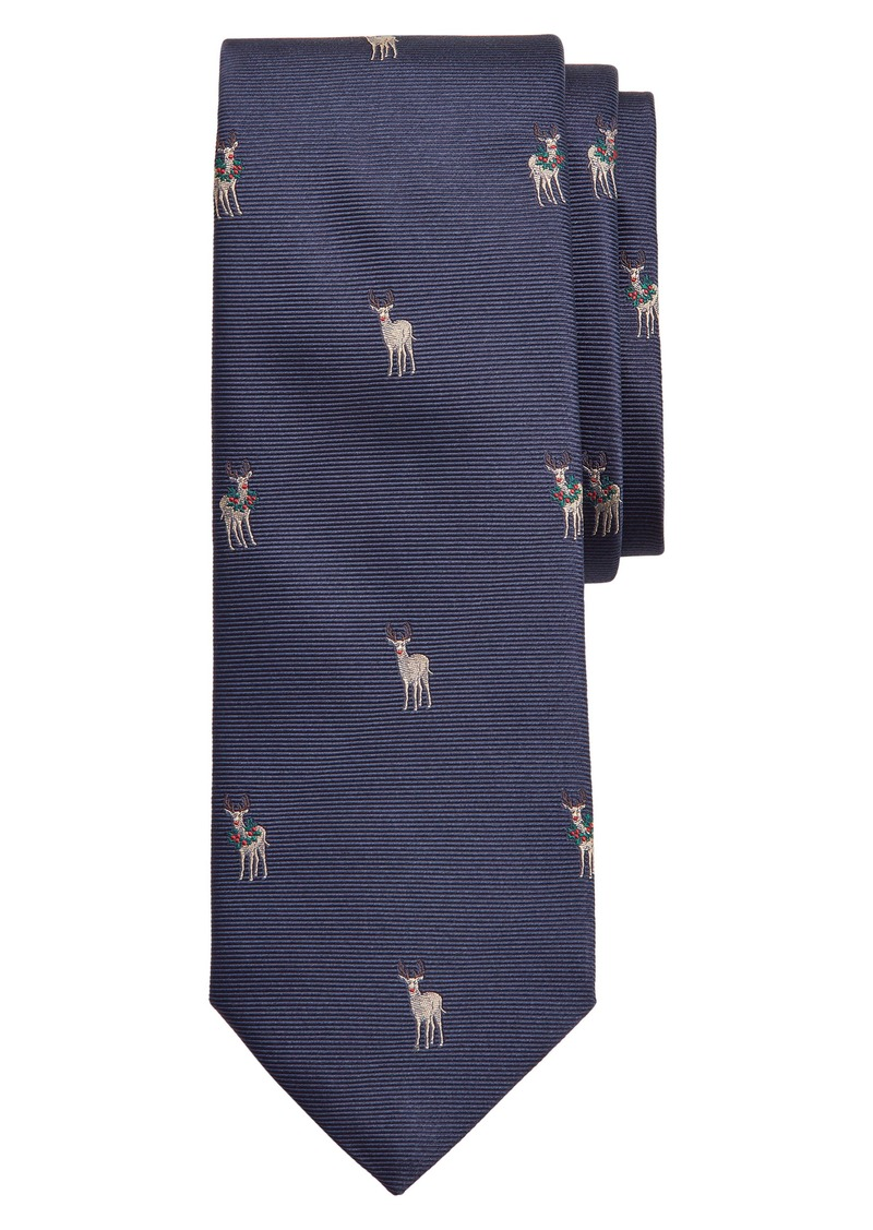 Brooks Brothers Reindeer Silk Tie