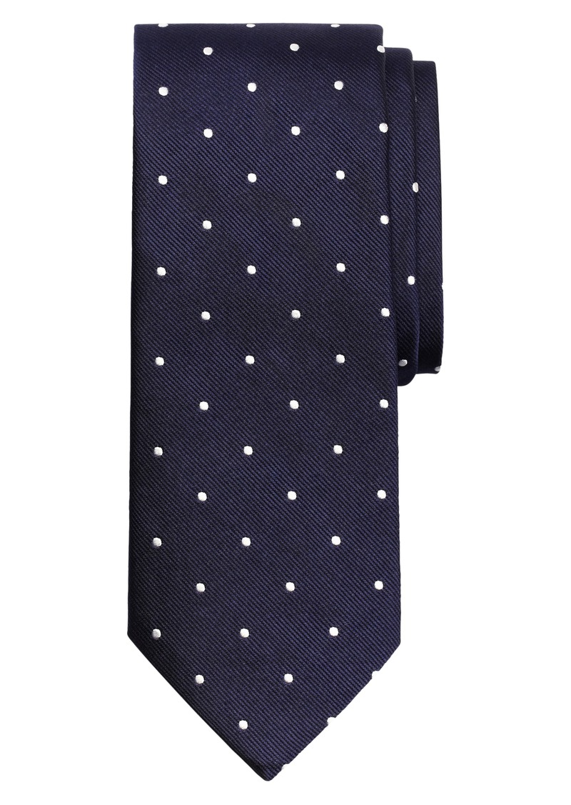 Brooks Brothers Small Dot Silk Tie (X-Long)