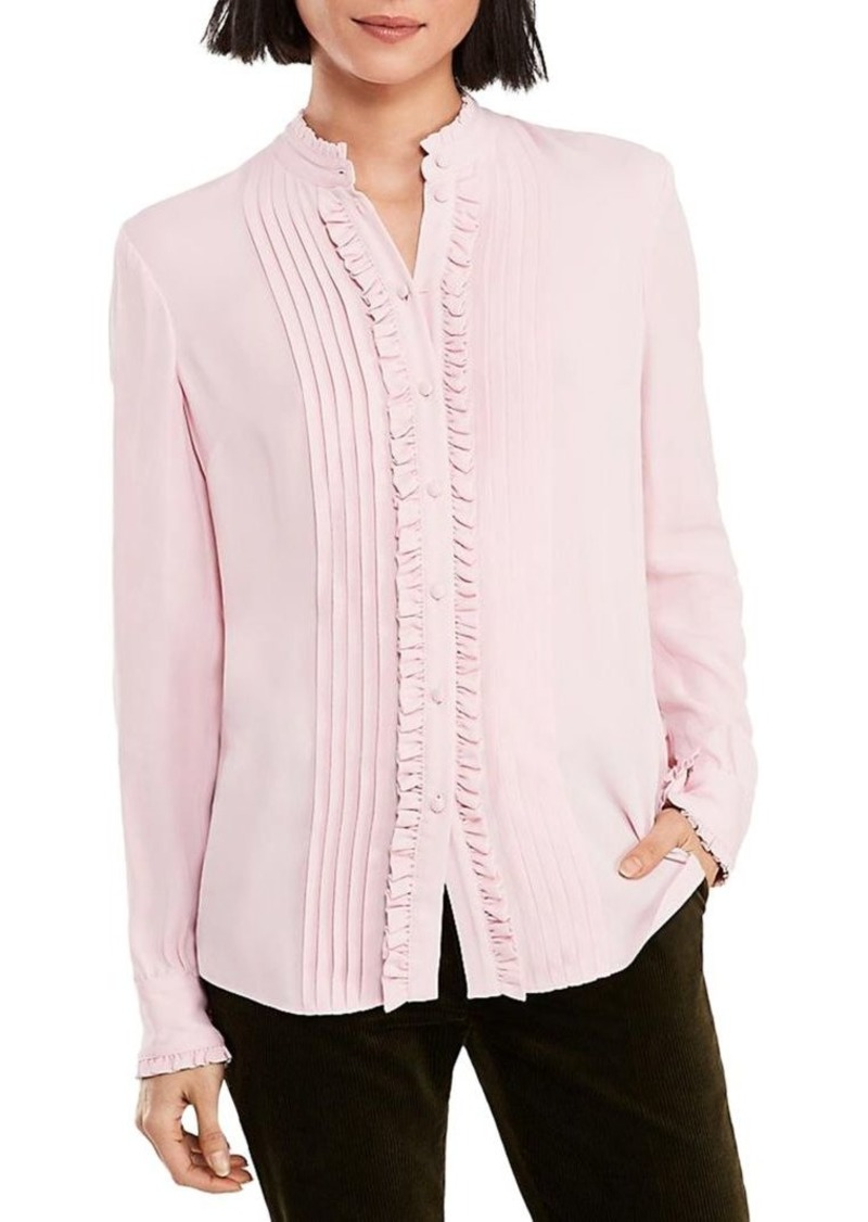 ac9d4598103d5 Brooks Brothers Brooks Brothers Soft Ruffle Long-Sleeve Blouse ...