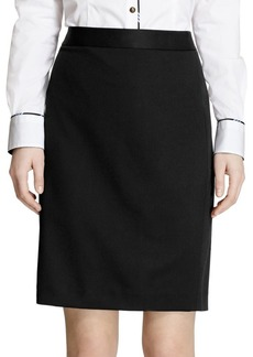 Brooks Brothers Solid Pencil Skirt