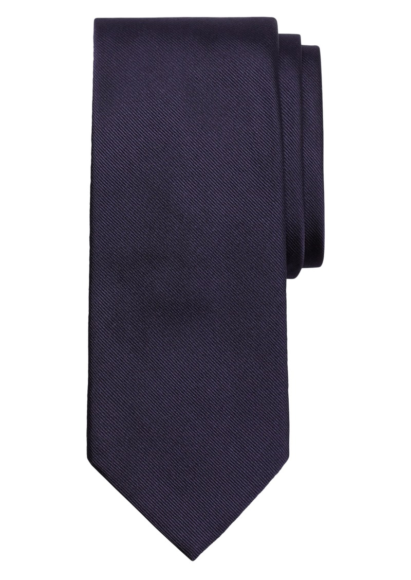 Brooks Brothers Solid Silk Tie (X-Long)