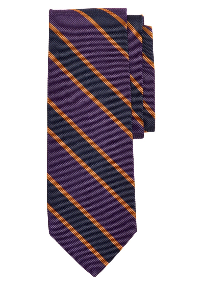 Brooks Brothers Stripe Silk & Cotton Tie
