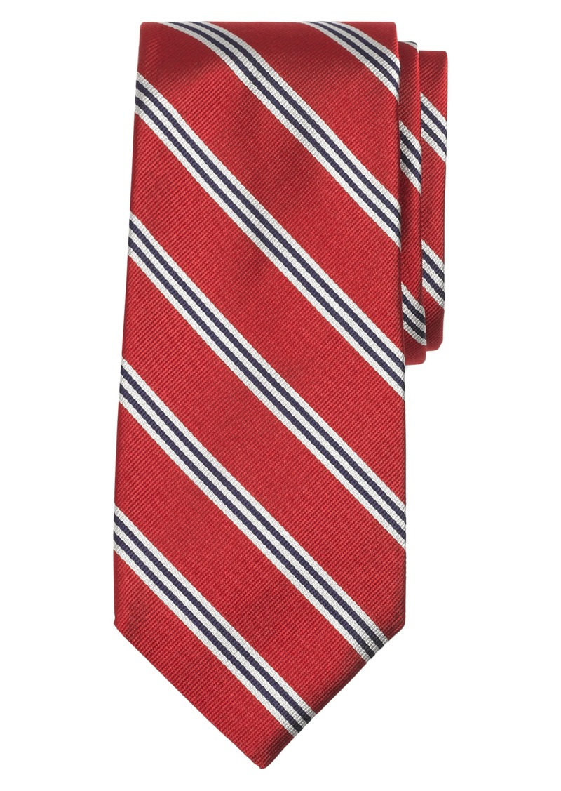 Brooks Brothers Stripe Silk Tie (X-Long)