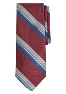 Brooks Brothers Stripe Silk X-Long Tie