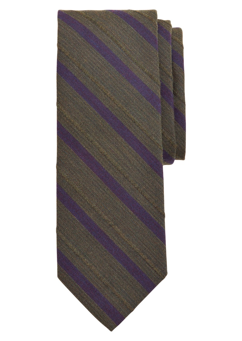 Brooks Brothers Stripe Wool & Cotton Tie