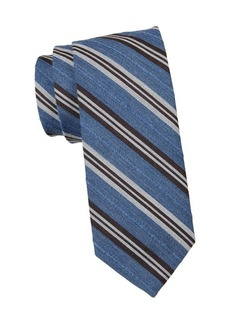 Brooks Brothers Striped Wool & Cotton-Blend Tie