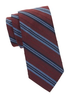 Brooks Brothers Striped Wool & Cotton Tie