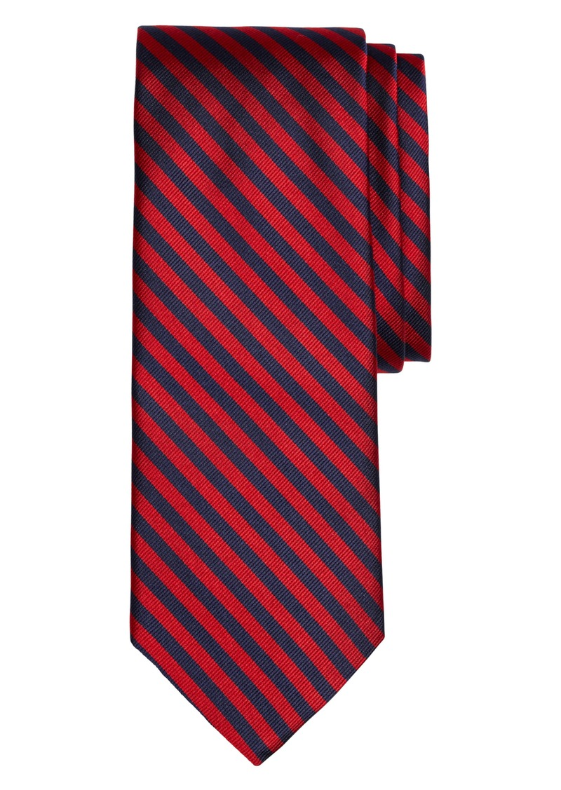 Brooks Brothers Thin Stripe Silk Tie (X-Long)