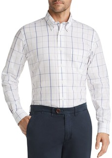 Brooks Brothers Windowpane-Print Classic Fit Button-Down Shirt