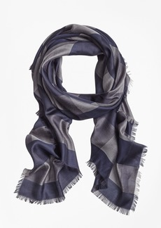 Brooks Brothers Buffalo-Check Oversized Square Scarf
