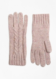 Brooks Brothers Cable-Knit Alpaca-Wool-Blend Gloves
