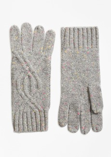 Brooks Brothers Cable-Knit Cashmere Gloves