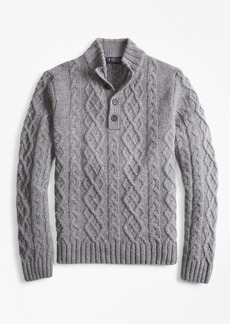 Brooks Brothers Cable Mockneck Sweater