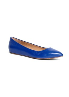 Brooks Brothers Calfskin Pointed Ballet Flats