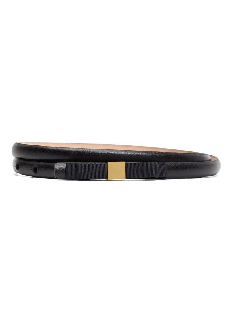 Brooks Brothers Calfskin with Grosgrain Bow Belt