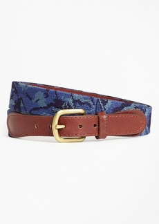 Brooks Brothers Camouflage Needlepoint Belt