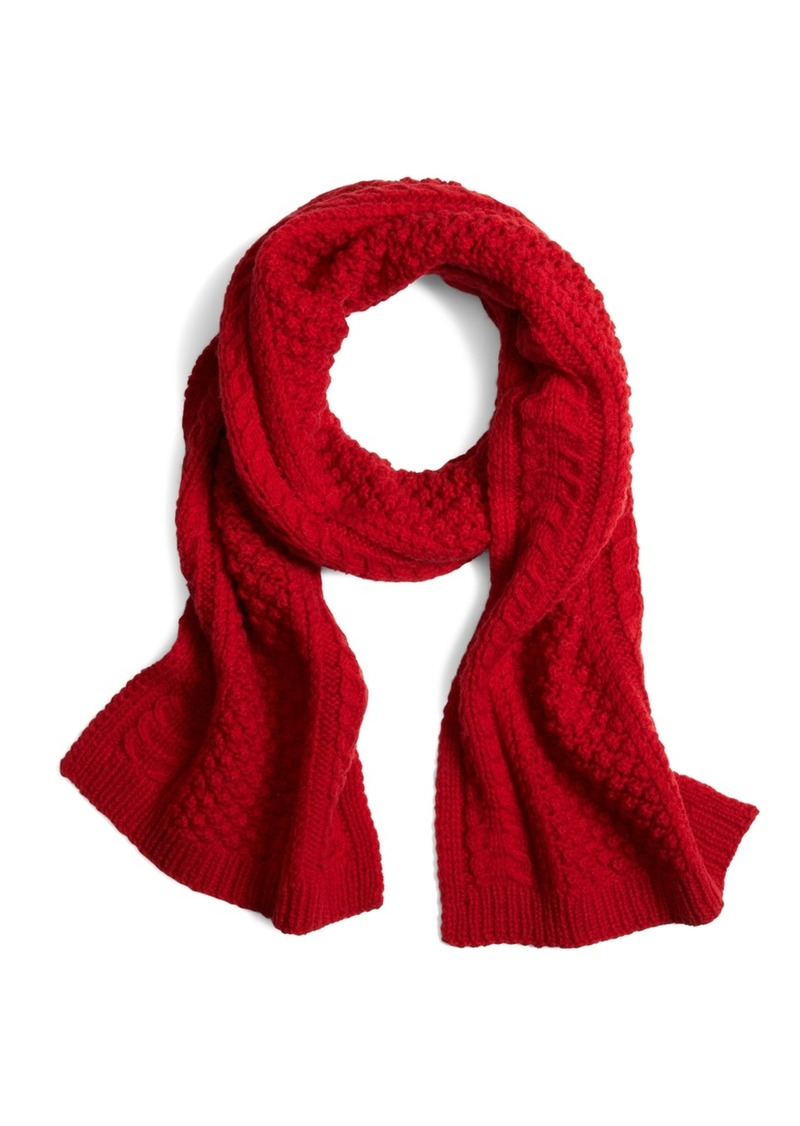 Brooks Brothers Cashmere and Wool Cable Knit Scarf