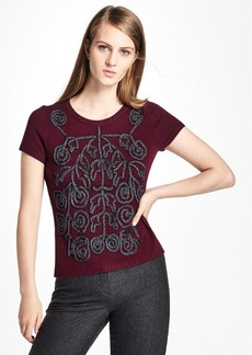 Brooks Brothers Cashmere Soutache-Embroidered Sweater