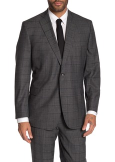 Brooks Brothers Charcoal Plaid Print Two Button Notch Lapel Regent Fit Suit Separates Jacket