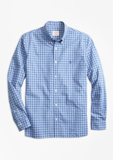Brooks Brothers Check End-On-End Broadcloth Sport Shirt