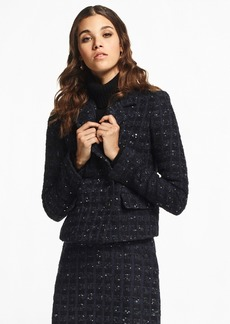 Brooks Brothers Checked Boucle Tweed Jacket