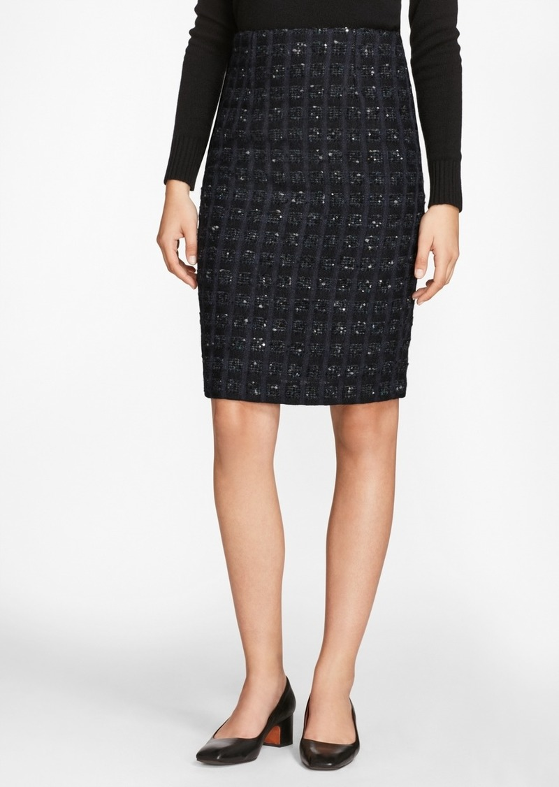 c6a939087 Brooks Brothers Checked Boucle Tweed Pencil Skirt | Skirts