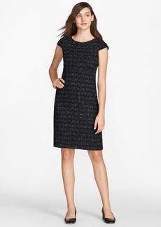 Brooks Brothers Checked Boucle Tweed Sheath Dress