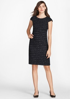 Brooks Brothers Checked Boucle Tweed Sheath Dress