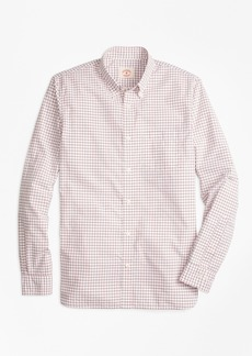 Brooks Brothers Checkered Broadcloth Oxford Sport Shirt