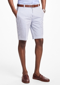 Brooks Brothers Classic Stripe Seersucker Bermuda Shorts