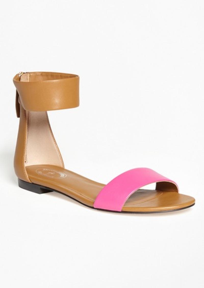 Brooks Brothers Color-Block Ankle-Strap Sandals