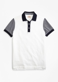 Brooks Brothers Colorblock Cotton Pique Polo Shirt