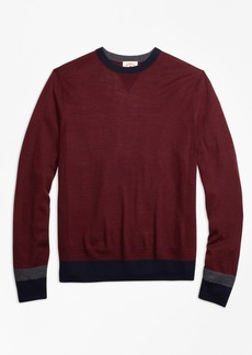 Brooks Brothers Colorblock Merino Wool Sweater