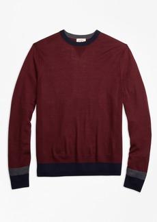 Brooks Brothers Colorblock Merino Wool Sweater