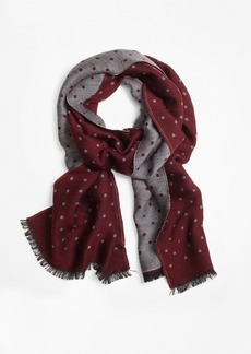 Brooks Brothers Contrast Polka Dot Scarf