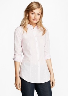 Brooks Brothers Cotton Jacquard Tailored-Fit Shirt