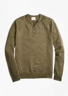 Brooks Brothers Cotton-Linen Henley Sweater