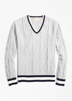 Brooks Brothers Cotton Tennis Sweater